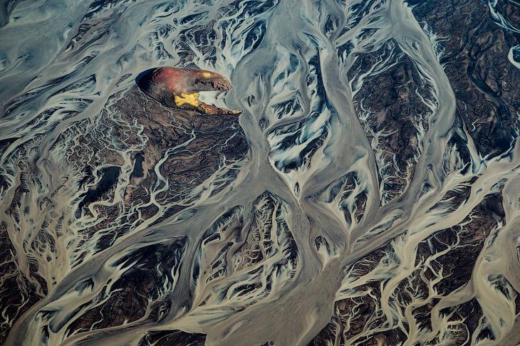 Ледяная страна с высоты